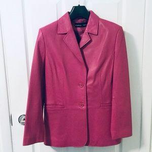 💫HOST PICK✨Bianca Nygard Hot Pink Leather Jacket